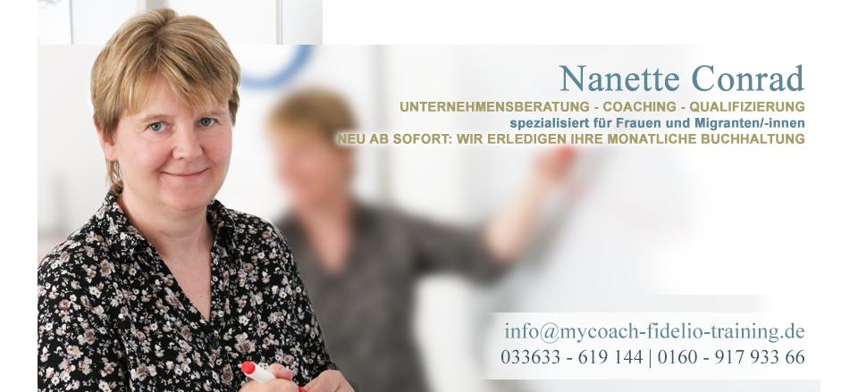 Nanette Conrad - Unternehmensberatung - Coaching - Qualifizierung